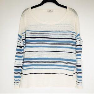 Joie 100% Linen Striped Top